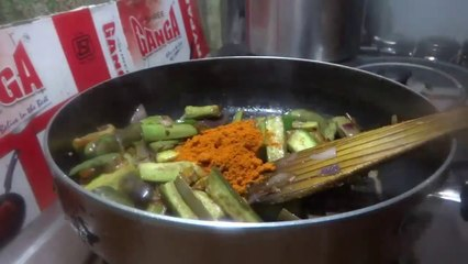 Vankaya Endiroyyalu Curry Preparation in Telugu(వంకాయ ఎండిరోయ్యలు కూర )