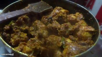 Village Style Chicken Fry Preparation in Telugu (విలేజ్ చికెన్ వేపుడు )