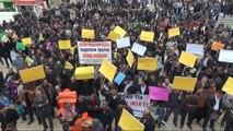 Taşeron İşçilerin Mitingine Katılan Bakan Çelik Taşeron İşçilere Kadro Müjdesi Verdi! (05.03.2014)