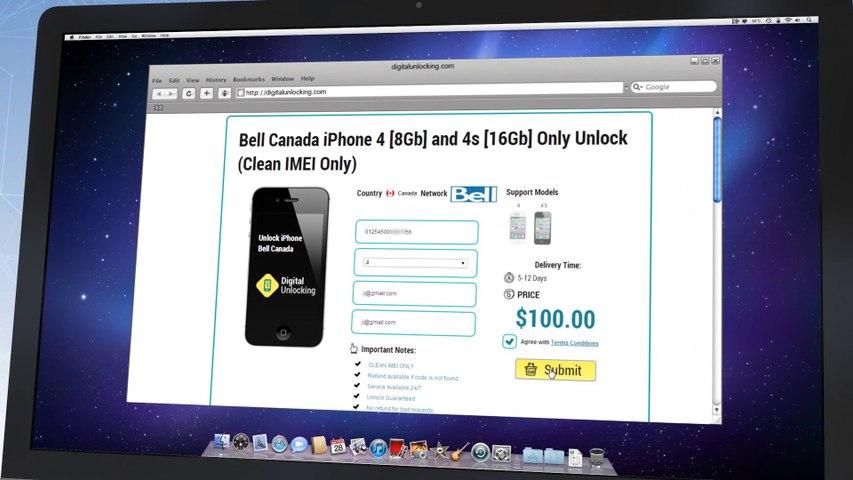 Telus Unlock iPhone 5S   5C   5  4S   4   3GS  -  Video