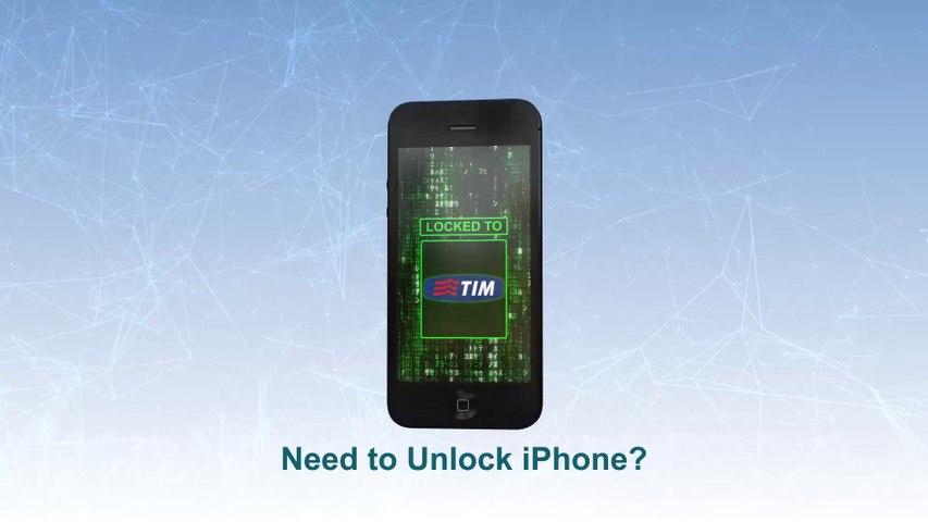 TIM Unlock iPhone 5S   5C   5  4S   4   3GS  -  Video
