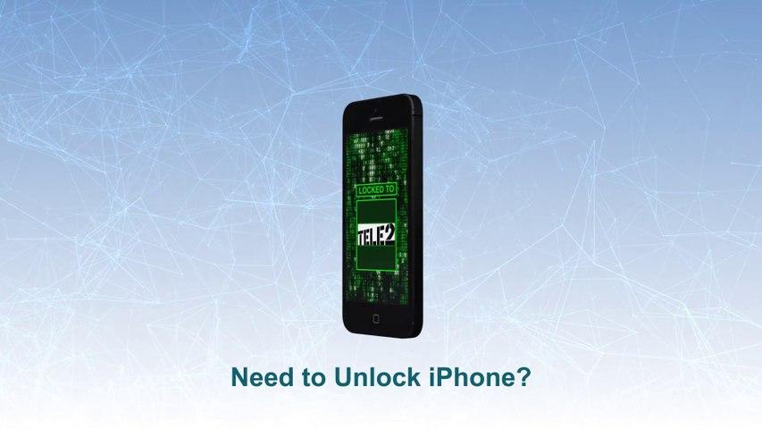 TELE2 Unlock iPhone 5S   5C   5  4S   4   3GS  -  Video