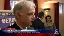 Nicolas DUPONT-AIGNAN présente à Toulouse la tête de liste Debout La République aux Européennes