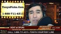 San Antonio Spurs vs. Miami Heat Pick Prediction NBA Pro Basketball Odds Preview 3-6-2014