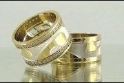 Alyanschi Gümüş Alyans - Altın Kaplama Gümüş Alyans - Gold Plated Silver Wedding Bands
