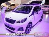 La Peugeot 108 en direct du salon auto Genève 2014