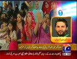 Shahid Afridi's Family Today in Geo Inaam Ghar