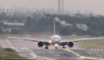 Un Vortex sur avion à l'atterrissage! Impressionnant.