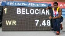 Finale 60 m haies Juniors (record du monde de Wilhem Belocian)
