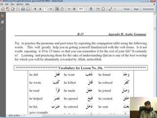 Grammar - # 01-b - review of pronouns and Past Tense Verbs - Arabic