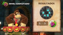 Donkey Kong Country: TF. Plataformas problemáticas 5-K - Gameplay - 100% puzzles y letras