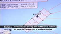A la recherche du Boeing 777 de Malaysia Airlines