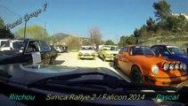 4ème Montée VH Falicon 2014 Simca Rallye 2 Richard et Pascal