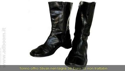 TORINO,    STIVALI NERI EURO 15