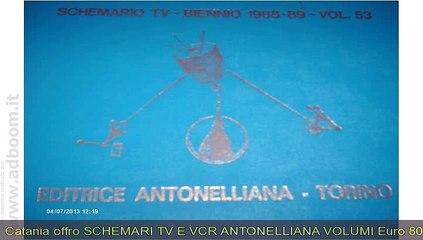 CATANIA, GIARRE   SCHEMARI TV E VCR EURO 80