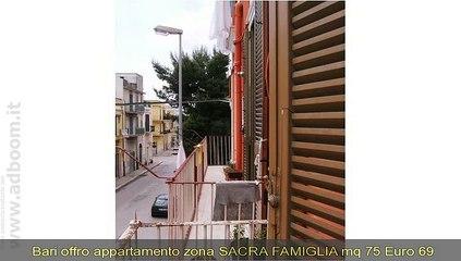 BARI, CORATO   APPARTAMENTO  ZONA SACRA FAMIGLIA MQ 75 EURO 69.000
