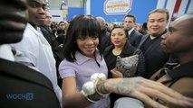 Rihanna Rocks Chanel Padlock Necklace During Drake Date Night