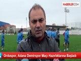 Orduspor, Adana Demirspor Maçı Hazırlıklarına Başladı