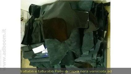 PAVIA, VIGEVANO    STOCK PELLE DI CAPRA NERA IN VERNICE EURO 15