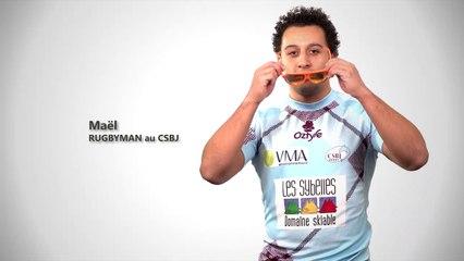 Charles Marin, parrain du match CSBJ–LOU Rugby - Spot 1
