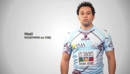 Charles Marin, parrain du match CSBJ–LOU Rugby - Spot 2