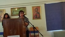 Χαιρετισμός της Διευθύντριας  Δρ. Π. Παπακώστα  του Εκκλησιαστικού Σχολείου Λαμίας σε εκδήλωση του Σχολείου στις 10/3/2014