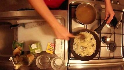 Risotto alla Milanese A.S.M.R. (saffron & parmesan rice)