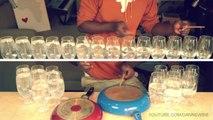 Reprise de Happy - Pharrell Williams en utilisant des verres et des casseroles!
