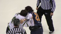 Joel Theriault vs Gaby Roch - Bagarre Hockey sur Glace