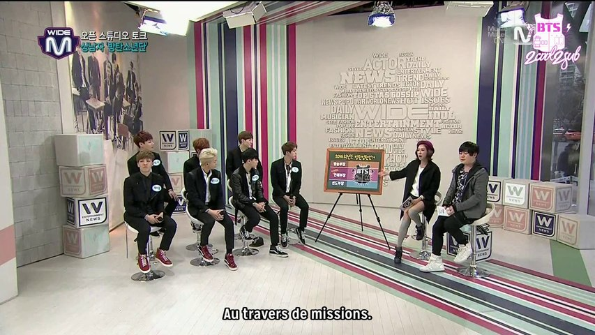 [1/2] 140213 Mnet Wide Open Studio: BTS (VOSTFR)