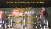 G. Huet vs. D. Nicolas - débat Municipales à Avranches - #1 le cumul des mandats