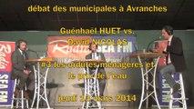 G. Huet vs. D. Nicolas - débat Municipales à Avranches - #3 les ordures ménagères et le prix de l'eau