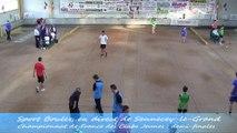 Double et tirs de précision, Demi-finales, Championat de France des Clubs, Sport Boules, Sennecey-le-Grand 2014
