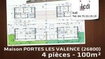 Vente - maison - PORTES LES VALENCE (26800)  - 100m²