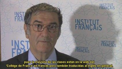 Serge Haroche Prix Nobel de Physique-interview à l'Institut français d'Espagne à Madrid 13 03 2014