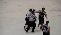 Canadian Hockey Fight Funny Ending - Hockey Game Fights