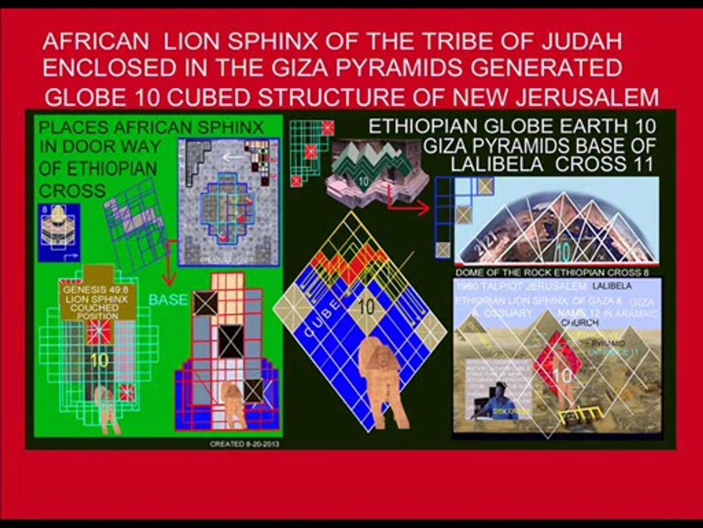ETHIOPIAN LION SPHINX 1 2 3 PYRAMIDS DESTROYS GREEK & ROMAN IMAGE OF JESUS