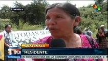 Rechazan con caravana la construcción de una presa en Guatemala
