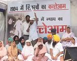 Arvind Kejriwal Addressing Families Affected by 1984 Riots at Jantar Mantar