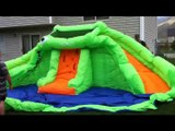 Best Blast Zone Crocodile Isle Inflatable water Park with Dual Slides Review!