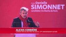 Alexis Corbière au meeting  Front de Gauche de Paris le 16 mars 2014