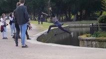 FAIL : Fille saute au-dessus de l'eau