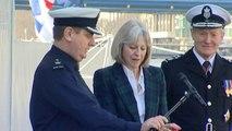 Theresa May launches new Border Force ship