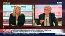 Jean-Claude Mailly, secrétaire général de Force Ouvrière, dans Le Grand Journal - 17/03 3/4
