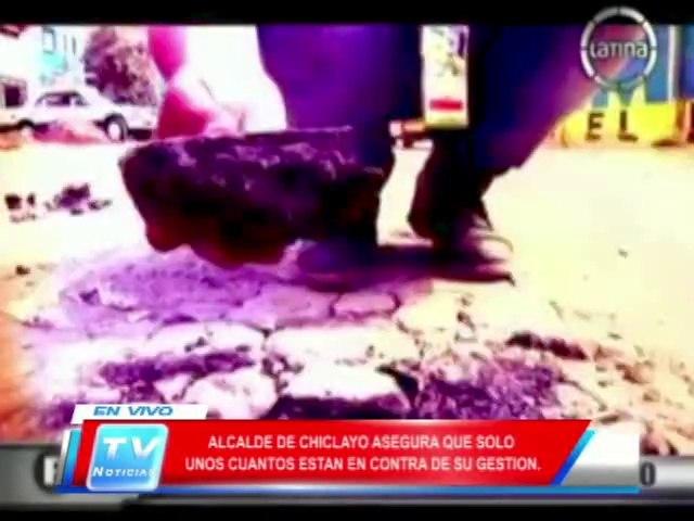 Chiclayo: Alcalde responde despues de la emision de reportaje en programa dominical 17 03 14
