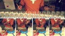 """Une reprise de la chanson  """"happy"""" de Pharrell Williams avec des verres et des poêles à frire"""