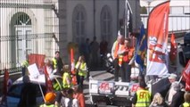 Manifestation à Gap à l'appel des syndicats CGT, FO, Solidaires et FSU