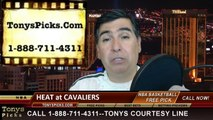 Cleveland Cavaliers vs. Miami HeatPick Prediction NBA Pro Basketball Odds Preview 3-18-2014