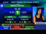 First trades on Dalal-St Nifty, Sensex open in green
