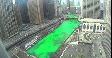 St Patricks Day Chicago Paints Its River Green